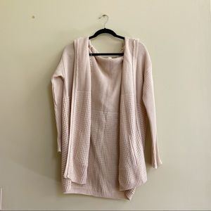 Blush Brand Beige Knit Cardigan